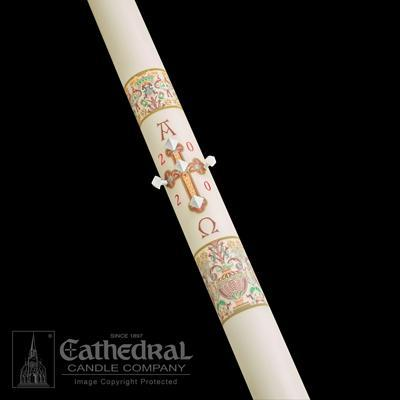 "1-1/2"" x 34"" Investiture Paschal Candle - Gerken's Religious Supplies"