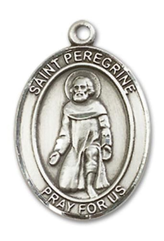 St. Peregrine Laziosi Sterling Silver Medal