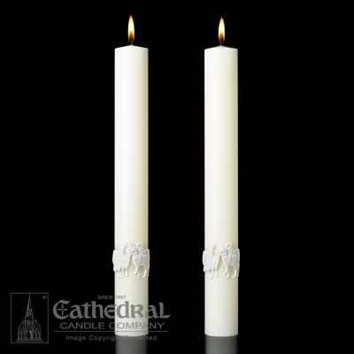 "Good Shepherd Side Candles 2"" X 12"" - Gerken's Religious Supplies"