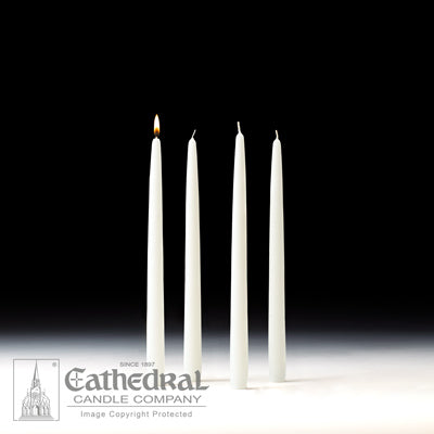 "7/8"" X 12"" Home Advent Taper Candle Set (4 White)"