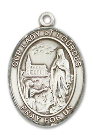 Our Lady of Lourdes Sterling Silver Medal