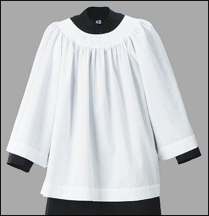 Altar Server Surplice - Long Sleeve, Round Neck (SIZE 8-10)