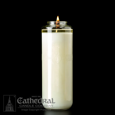 Domus Christi 51% Beeswax Glass Sanctuary Candles - 8 Day