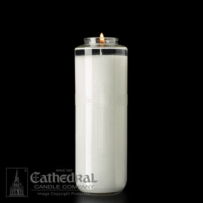 SacraLite Glass Sanctuary Candles - 8 Day