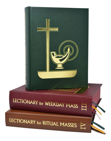 Pulpit Edition Lectionary Set of 3 for Weekday Masses - Gerken's Religious Supplies