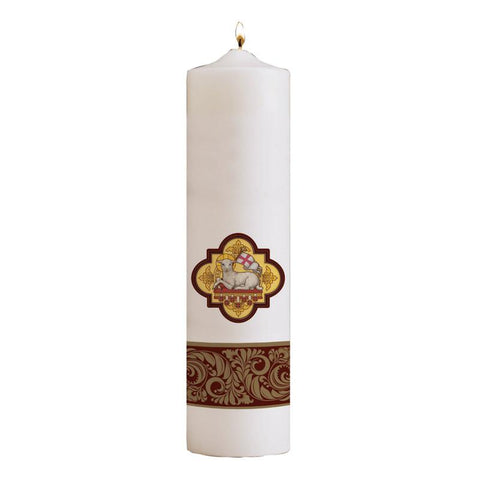 Agnus Dei Pillar Christ Candle - Gerken's Religious Supplies