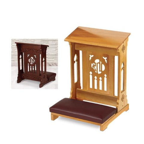 Florentine Collection Kneeler Oak Finish - Gerken's Religious Supplies