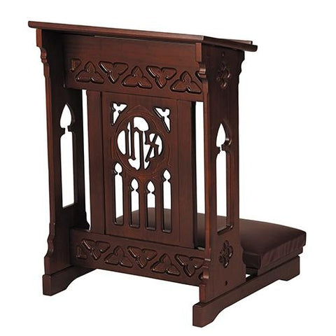 Florentine Collection Kneeler Walnut Finish - Gerken's Religious Supplies