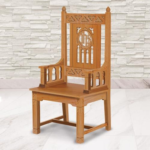 Florentine Collection Celebrant Chair - Oak - Gerken's Religious Supplies
