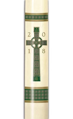 "3"" x 59"" Celtic Cross Paschal Candle - Gerken's Religious Supplies"