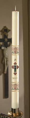 "2-1/4"" x 43"" Coronation Paschal Candle - Gerken's Religious Supplies"