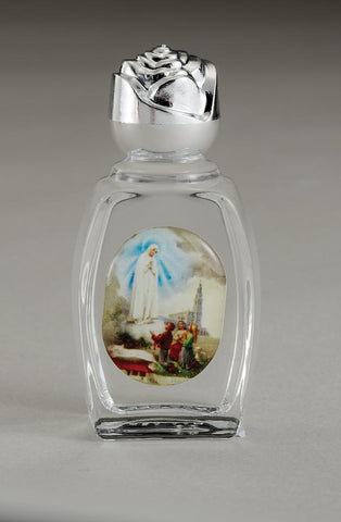 Glass Holy Water Bottle with Water from Fatima - Gerken's Religious Supplies