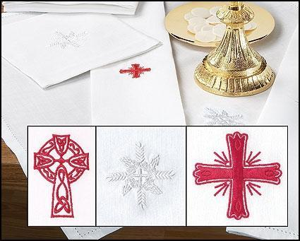 Assorted Cross Chalice Pall - Linen/Cotton