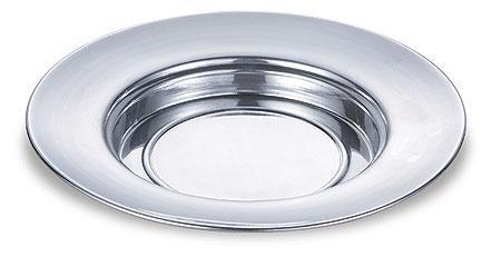 Polished Aluminum Bread Plate - Gerken's Religious Supplies