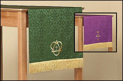 Reversible Jacquard Table Runner - Purple/Green