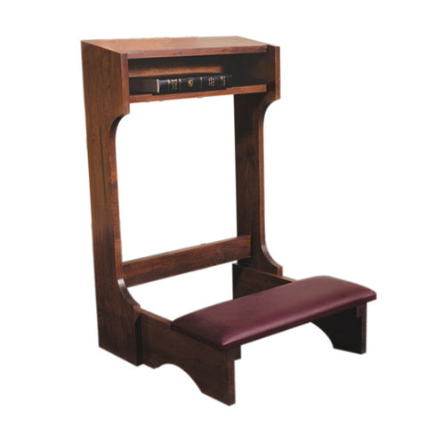 Padded Kneeler Walnut Finish