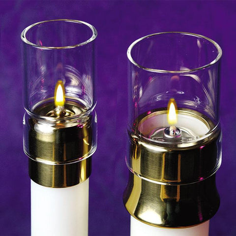 "1-15/16"" Glass Draft Protector for Oil Candles - Gerken's Religious Supplies"
