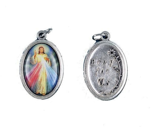 Divine Mercy Oxidized Picture Medal - Gerken's Religious Supplies