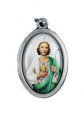 St. Jude Oxidized Picture Medal - Gerken's Religious Supplies