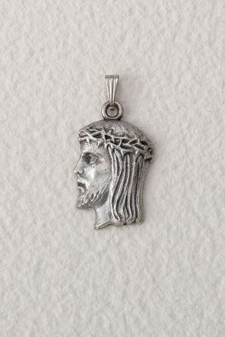 Head of Christ Oxidized Silver Medal - Medium - Gerken's Religious Supplies