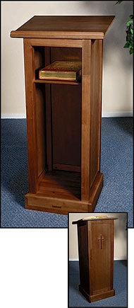Full Lectern with Shelf - Walnut