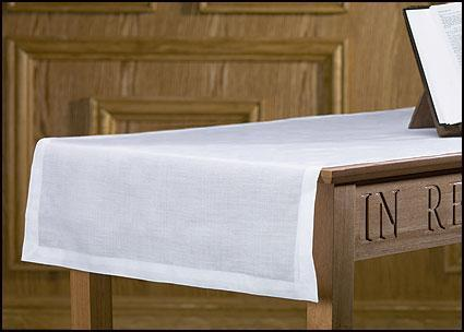 Plain Altar Runner - 100% Linen - Gerken's Religious Supplies