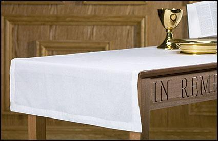 Plain Altar Runner - Poly/Cotton - Gerken's Religious Supplies