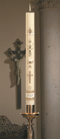 "1-15/16"" x 27"" Spec Ornamented Paschal Candle"
