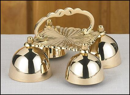 Four Cup Sacristy Bells with Handle