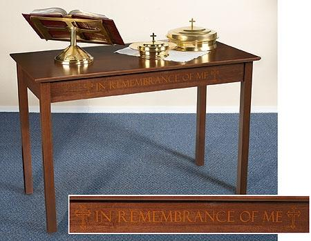 Silk Screened Communion Table - Gerken's Religious Supplies