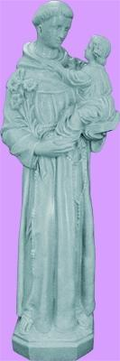 "St Anthony Outdoor Statue with Granite Finish, 24"" - Gerken's Religious Supplies"