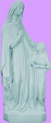 "St Anne Outdoor Statue with Granite Finish, 24"" - Gerken's Religious Supplies"