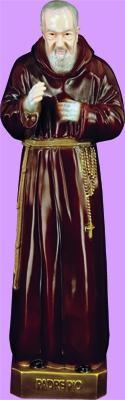 "Padre Pio Outdoor Statue with Color Finish, 24"" - Gerken's Religious Supplies"