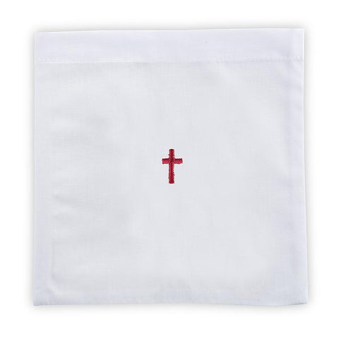 Red Cross Chalice Pall - Poly/Cotton - Gerken's Religious Supplies