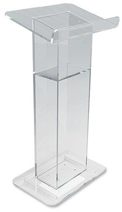 Acrylic U-Shaped Lectern with Shelf - Gerken's Religious Supplies
