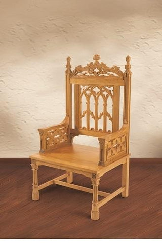 Canterbury Collection Celebrant Chair - Oak - Gerken's Religious Supplies