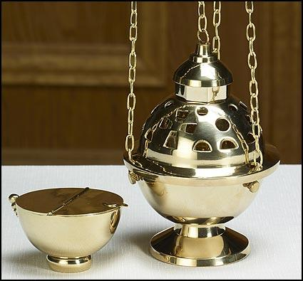 Hanging Censer & Boat Set - Gerken's Religious Supplies