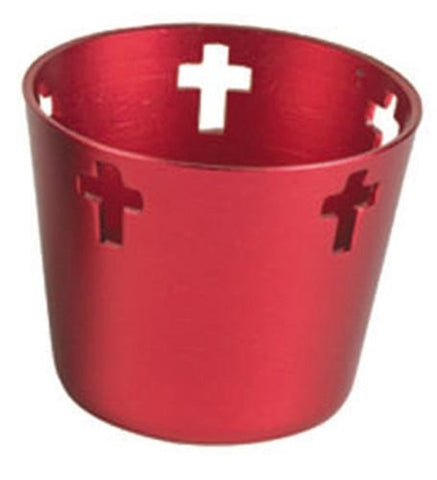 10 Hr Aluminum Votive Holders - Red - Gerken's Religious Supplies