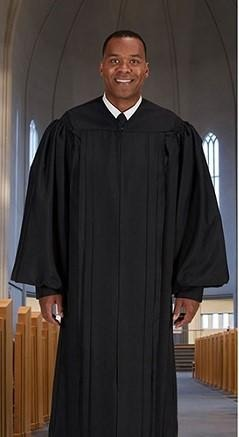 Classic Pulpit Robe - Black - Gerken's Religious Supplies