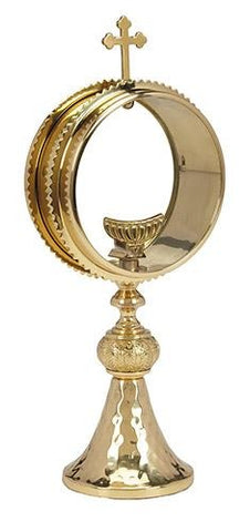 Clear Monstrance with Luna - Gerken's Religious Supplies