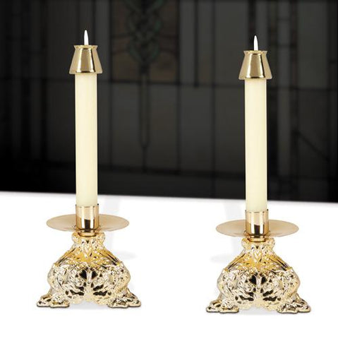 Trinity Resin Altar Candlesticks - Set - Gerken's Religious Supplies