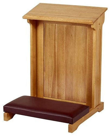 Padded Kneeler Oak Finish - Gerken's Religious Supplies