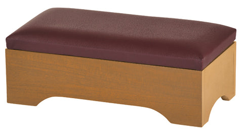 Personal Kneeler with Storage Pecan Finish - Gerken's Religious Supplies