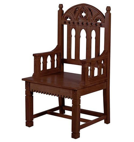 Gothic Collection Celebrant Chair - Walnut