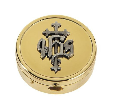 IHS Embossed Pyx - Gerken's Religious Supplies