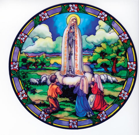 Our Lady of Fatima Static Sticker - Gerken's Religious Supplies