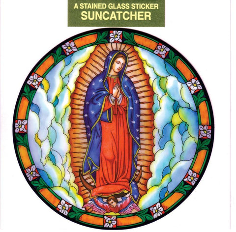 Our Lady of Guadalupe Static Sticker - Gerken's Religious Supplies