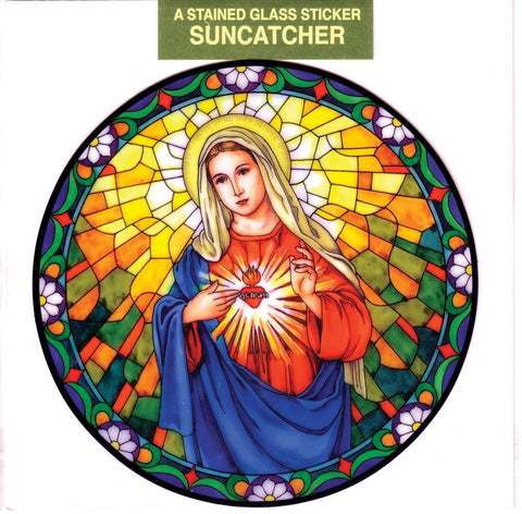 Immaculate Heart of Mary Static Sticker - Gerken's Religious Supplies