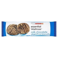 Milk Chocolate Digestive Biscuits by Essential Waitrose - London Calling