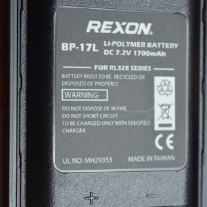 Battery for Rexon RHP-530 Airband Radio (Canada Only) - Battery -- ParAddix -- Canadian Online ParaStore for the Paramotor and Paraglider Addicts